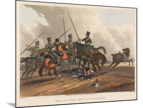 Death of Major General Sir William Ponsonby, Engraved by M. Dubourg, 1819 (Coloured Aquatint)-Franz Joseph Manskirch-Mounted Giclee Print