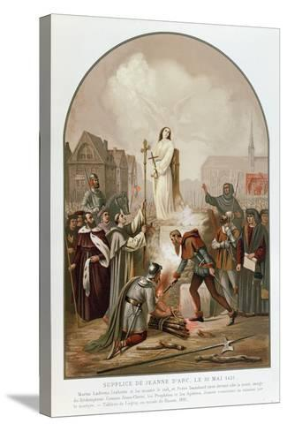 Joan of Arc at the Stake, 30 May 1431, 1861-Frederic Legrip-Stretched Canvas Print