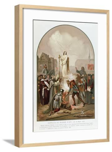 Joan of Arc at the Stake, 30 May 1431, 1861-Frederic Legrip-Framed Art Print