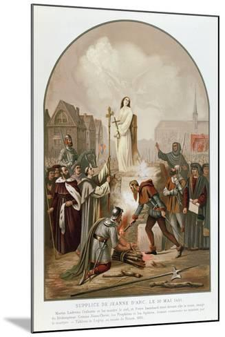 Joan of Arc at the Stake, 30 May 1431, 1861-Frederic Legrip-Mounted Giclee Print