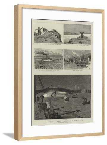 The Particular Service Squadron in Bantry Bay-Frederic Villiers-Framed Art Print