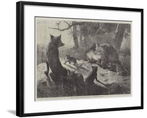 The Fox Family at Home-George Bouverie Goddard-Framed Art Print