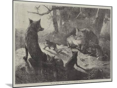 The Fox Family at Home-George Bouverie Goddard-Mounted Giclee Print