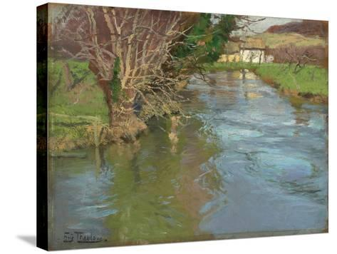A Stream in Spring-Fritz Thaulow-Stretched Canvas Print