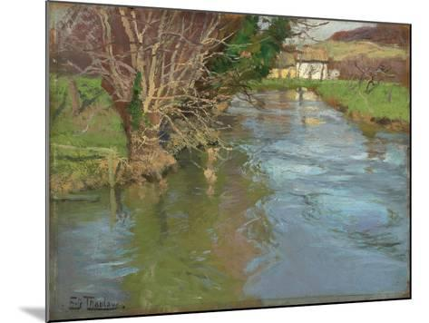A Stream in Spring-Fritz Thaulow-Mounted Giclee Print