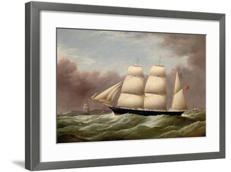 The Barque Alfred Hawley Off the Skerries on Her Way into Liverpool, 1860-G. Dell-Framed Art Print