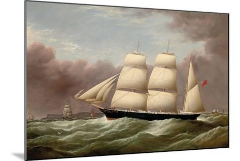 The Barque Alfred Hawley Off the Skerries on Her Way into Liverpool, 1860-G. Dell-Mounted Giclee Print