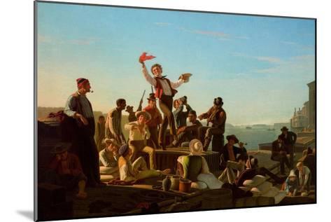 Jolly Flatboatmen in Port, 1857-George Caleb Bingham-Mounted Giclee Print