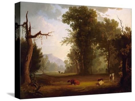 Landscape with Cattle, 1846-George Caleb Bingham-Stretched Canvas Print