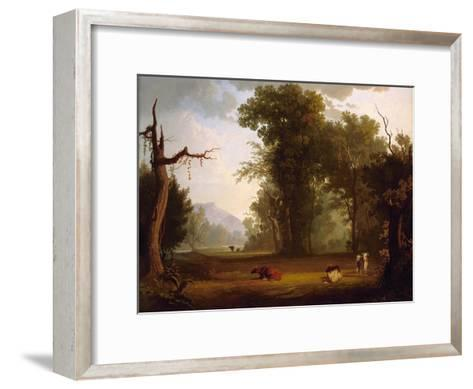 Landscape with Cattle, 1846-George Caleb Bingham-Framed Art Print