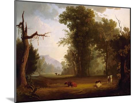 Landscape with Cattle, 1846-George Caleb Bingham-Mounted Giclee Print