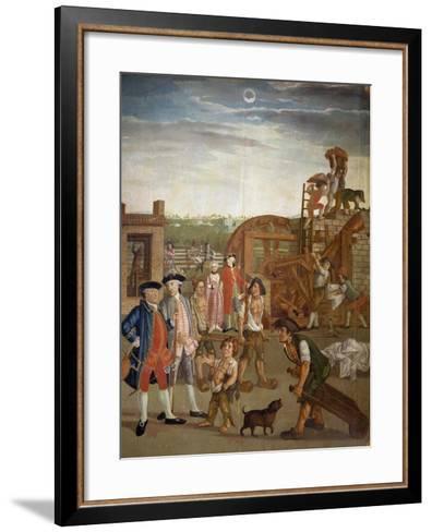 Courtyard with Machines for Fulling Fabrics, 1764-Gabriel Maria Rossetti-Framed Art Print