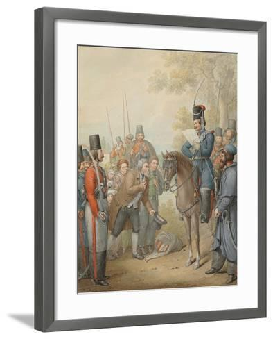 Russian Cossacks and a Supplicant-Georg Emanuel Opitz-Framed Art Print