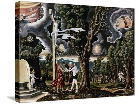 The Fall into Sin and the Redemption of Mankind-Georg Lemberger-Stretched Canvas Print
