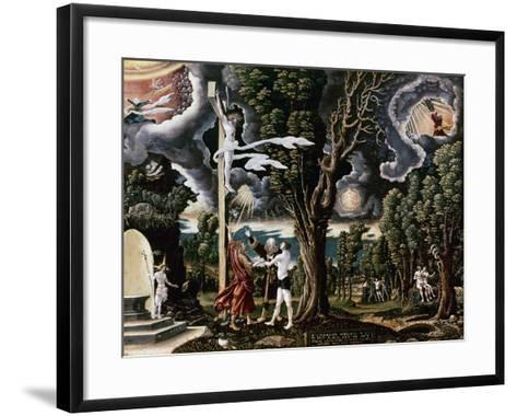 The Fall into Sin and the Redemption of Mankind-Georg Lemberger-Framed Art Print