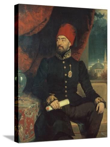 Portrait of a Dignitary in Turkish Costume-George Dawe-Stretched Canvas Print
