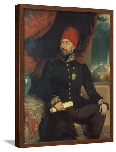 Portrait of a Dignitary in Turkish Costume-George Dawe-Framed Art Print