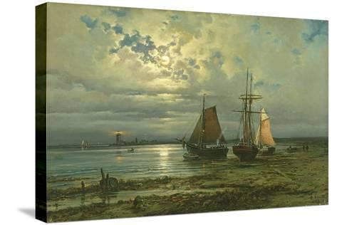Neuwerk by Moonlight, 1887-Georg Schmitz-Stretched Canvas Print