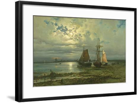 Neuwerk by Moonlight, 1887-Georg Schmitz-Framed Art Print