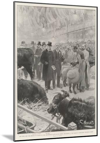 The King and the Prince of Wales at the Smithfield Club Cattle Show-G.S. Amato-Mounted Giclee Print