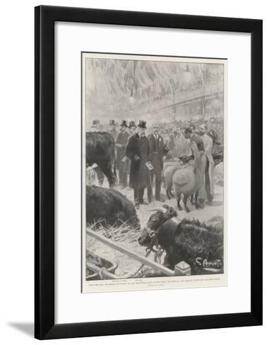 The King and the Prince of Wales at the Smithfield Club Cattle Show-G.S. Amato-Framed Art Print