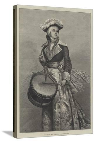 Follow the Drum-George Adolphus Storey-Stretched Canvas Print