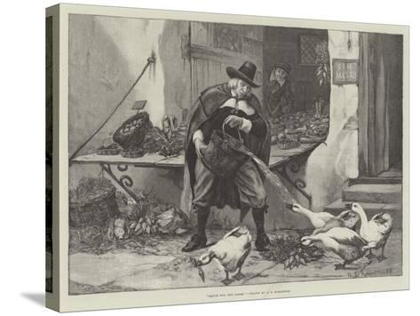 Sauce for the Goose-George Edward Robertson-Stretched Canvas Print