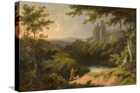 Ruins of Rosslyn Castle, Midlothian, 1810-George Arnald-Stretched Canvas Print