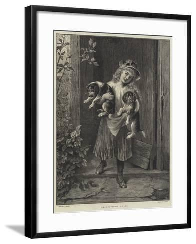 Troublesome Twins-George Augustus Holmes-Framed Art Print