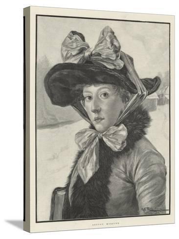 Sunday Morning-George Edward Robertson-Stretched Canvas Print