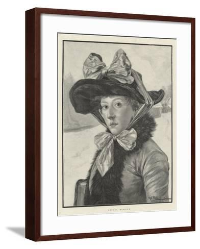 Sunday Morning-George Edward Robertson-Framed Art Print