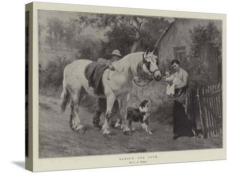Labour and Love-George Augustus Holmes-Stretched Canvas Print