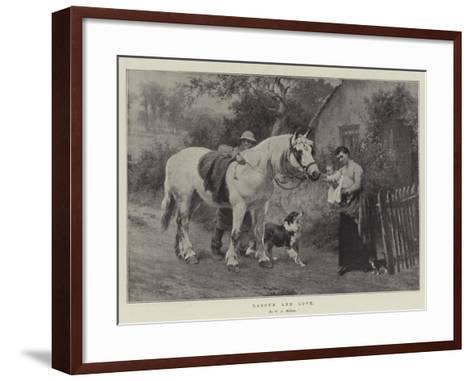 Labour and Love-George Augustus Holmes-Framed Art Print