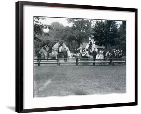 Riding Animals Bedecked for the Peace Day Celebrations, 19th July 1919-Frederick William Bond-Framed Art Print