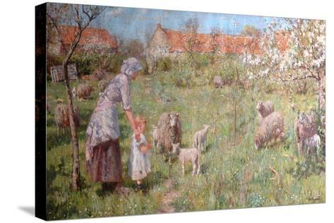 In the Springtime-Frederick William Jackson-Stretched Canvas Print