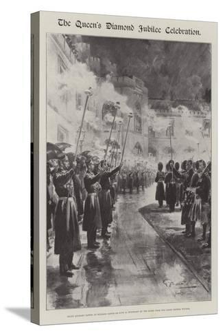 The Queen's Diamond Jubilee Celebration-G.S. Amato-Stretched Canvas Print