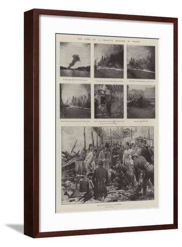 The Fire at a Charity Bazaar in Paris-G.S. Amato-Framed Art Print