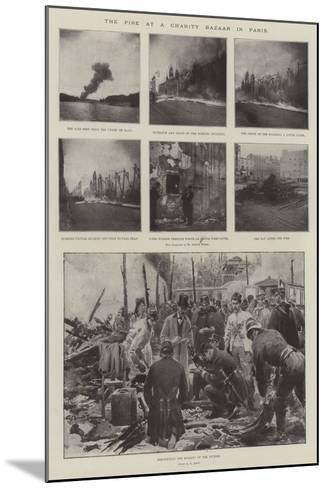 The Fire at a Charity Bazaar in Paris-G.S. Amato-Mounted Giclee Print