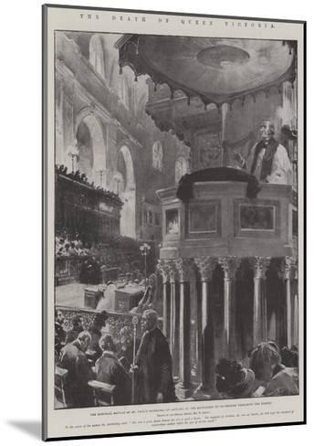 The Death of Queen Victoria-G.S. Amato-Mounted Giclee Print