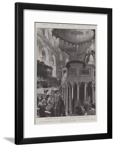 The Death of Queen Victoria-G.S. Amato-Framed Art Print