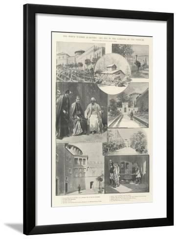 The Pope's Summer Quarters, Leo XIII in the Gardens of the Vatican-G.S. Amato-Framed Art Print