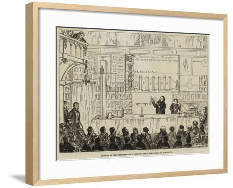 Lecture at the Charterhouse on Stephen Gray's Discoveries in Electricity-George Cruikshank-Framed Art Print