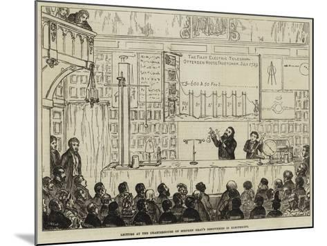 Lecture at the Charterhouse on Stephen Gray's Discoveries in Electricity-George Cruikshank-Mounted Giclee Print