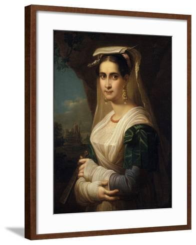 Countrywoman from Albano, 1818-Friedrich Ludwig Theodor Doell-Framed Art Print