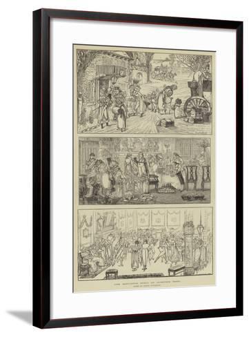 The Mistletoe Sprig of Oldstone Hall-George Cruikshank-Framed Art Print
