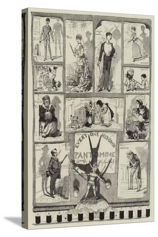 Every One His Own Pantomime-George Cruikshank-Stretched Canvas Print