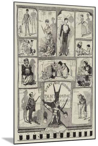 Every One His Own Pantomime-George Cruikshank-Mounted Giclee Print