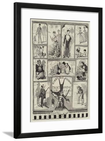 Every One His Own Pantomime-George Cruikshank-Framed Art Print