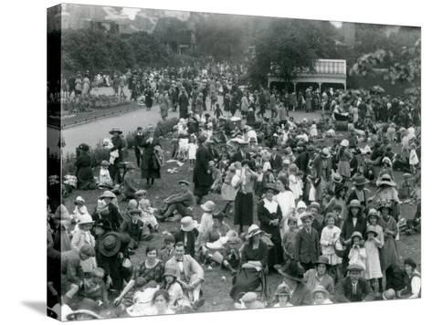 Crowds of Visitors at London Zoo, August Bank Holiday, 1922-Frederick William Bond-Stretched Canvas Print