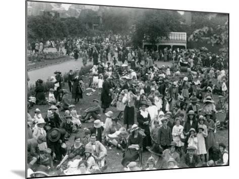 Crowds of Visitors at London Zoo, August Bank Holiday, 1922-Frederick William Bond-Mounted Photographic Print